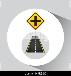 crossroad sign concept graphic vector illustration eps 10 - Stock Photo