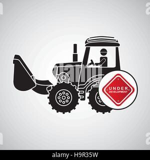 construction truck concept under development design vector illustration eps 10 - Stock Photo