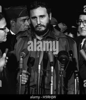 Fidel Alejandro Castro Ruz ( born August 13, 1926) is a Cuban political leader and former communist revolutionary. - Stock Photo
