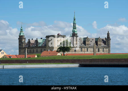 Kronborg Castle and fortress in Elsinore, Denmark - Stock Photo