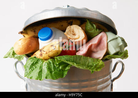 usdagov 15951717452 Fresh Food In Garbage Can To Illustrate Waste - Stock Photo