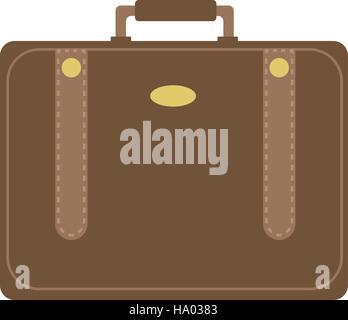 Business suitcase icon flat style. Portmanteau isolated on a white background. Vector illustration. - Stock Photo