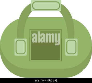 Sports bag icon flat style. Gym  isolated on white background. Vector illustration - Stock Photo