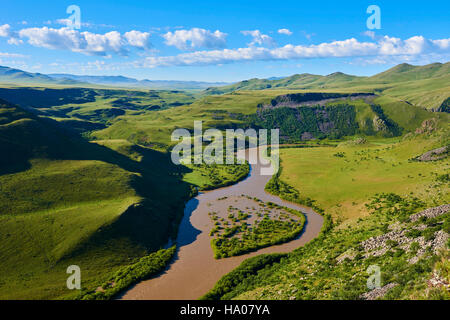Mongolia, Arkhangai province, Orkhon river gorge - Stock Photo