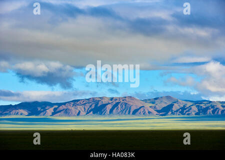 Mongolia, Gobi-Altay province, western Mongolia, landscape in the steppe - Stock Photo