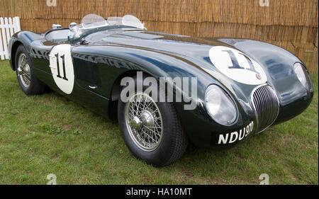 A 1953 Jaguar C-Type sports racing car - Stock Photo