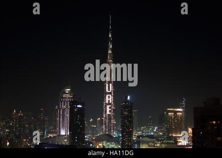 Downtown Dubai National day 2013 UAE - Stock Photo