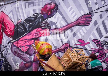 Anti-capitalistic Street Art in Bogota - Stock Photo