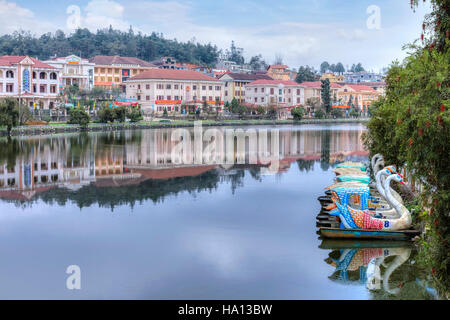 town of Sapa, Lao Cai, Vietnam, Asia - Stock Photo