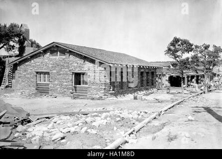 grand canyon nps 5897282513 00850 Grand Canyon Historic Bright Angel Lodge Exterior 1936 - Stock Photo