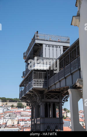 Santa Justa Lift, Lisbon, Portugal - Stock Photo
