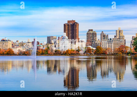 New York City at Central Park in the autumn. - Stock Photo