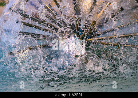 Close up photo of a water fountain, selective focus - Stock Photo