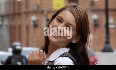 Happy Teen Girl Posing - Stock Photo