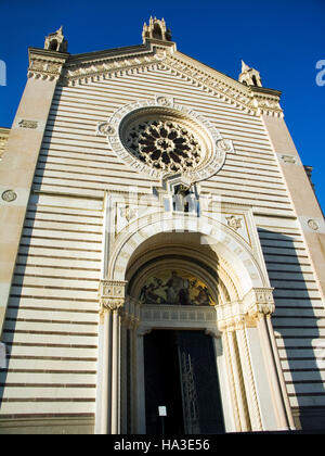 Famedio memorial chapel by architect Carlo Maciachini, Monumental Cemetery, Milan, Lombardy, Italy, Europe - Stock Photo