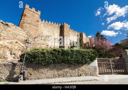 Ancient Walls in Buitrago de Lozoya, Madrid, Spain. - Stock Photo