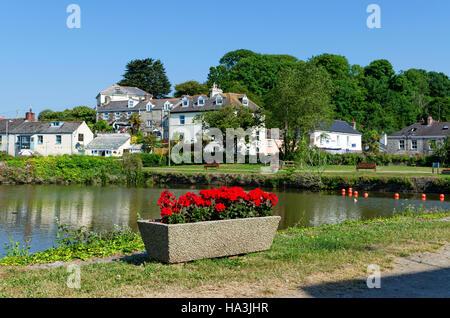 The village of Pentewan in Cornwall, England, UK - Stock Photo