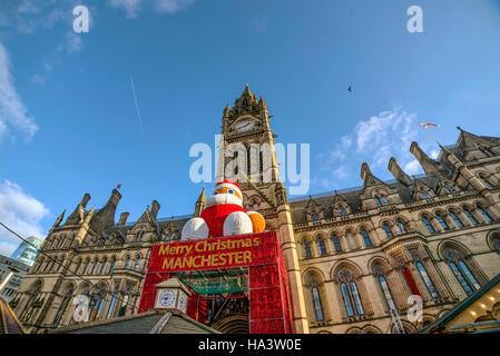 Merry Christmas, Manchester - Stock Photo