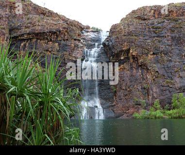 gunlom falls in kakadu national park - Stock Photo