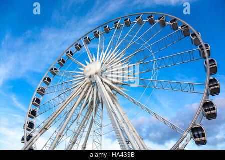 Ferris Wheel in Gdansk, Poland - Stock Photo