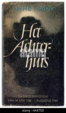 'Het Achterhuis. Dagboekbrieven 14 Juni 1942 - 1 Augustus 1944' (The Annex: Diary Notes 14 June 1942 - 1 August - Stock Photo