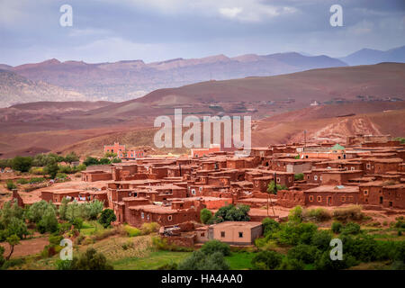 Small village Telouet in Atlas mountains, Morocco - Stock Photo