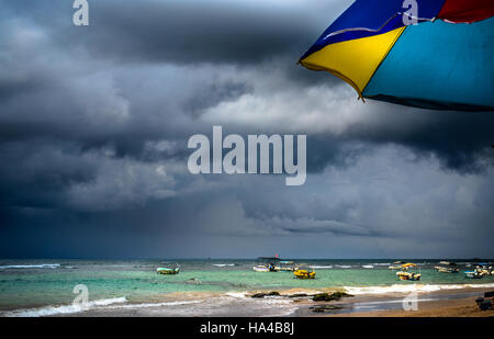 storm is coming in Hikkaduwa beach - Stock Photo