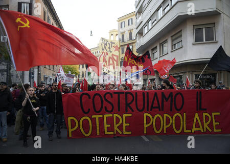 Rome, Rome, Italy. 27th Nov, 2016. Europe, Italy, Rome, November 27, 2016: the people of the 'no' in the referendum - Stock Photo