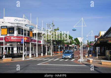 Wharf Street, Tauranga, Bay of Plenty Region, North Island, New Zealand - Stock Photo