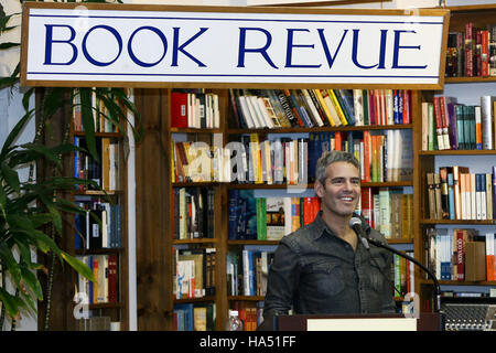 Andy Cohen signs copies of 'Superficial: More Adventures from the Andy Cohen Diaries' at Book Revue on November - Stock Photo