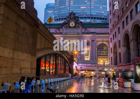 Grand central station exterior 42nd Street, New York City, United States of America. - Stock Photo