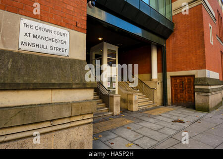 The Crown Court at Manchester Minshull Street - Stock Photo
