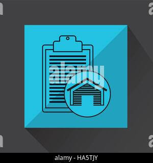 warehouse building check list report icon vector illustration eps 10 - Stock Photo