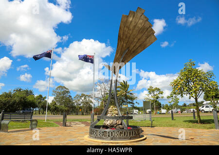 YUNGABURRA, AUSTRALIA - September 11, 2016: Afghanistan Avenue of Honour is a memorial dedicated to the memory of - Stock Photo