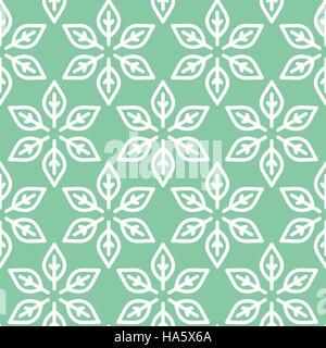 Retro textured leaves seamless background in vector format - Stock Photo