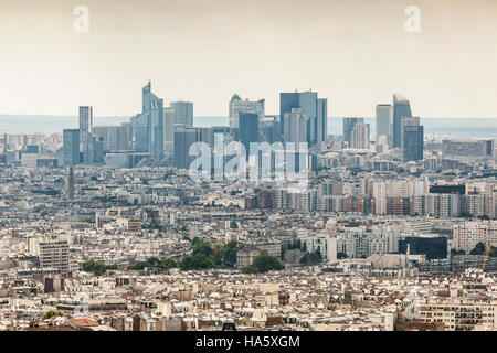 Looking across the rooftops of Paris. - Stock Photo