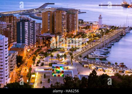 Cityscape of Malaga, Andalusia, Spain - Stock Photo