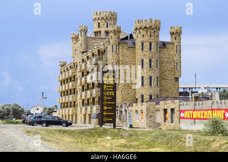 russia golubitskaya july 20 2016 the hotel building covered with decorative - Multi Castle 2016