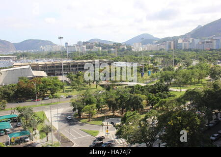 Rio de Janeiro, Brazil, November 25, 2016: Aterro do Flamengo, in the central region of Rio de Janeiro, seen from - Stock Photo