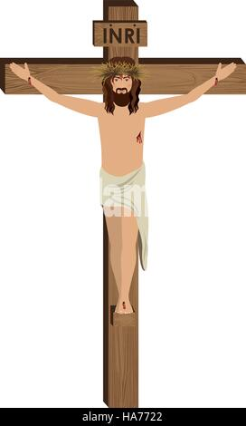 The Crucifixion of Jesus Christ vector illustration - Stock Photo