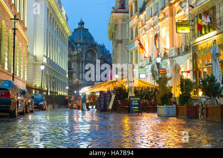 Old Town of Bucharest. The Old Town part of Bucharest, also called Lipscani. Romania - Stock Photo