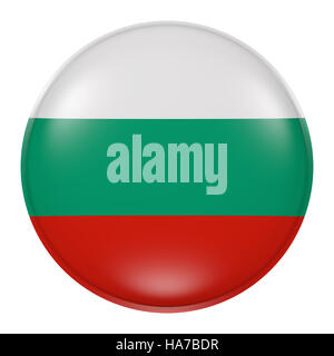 3d rendering of Bulgaria  flag on a button - Stock Photo