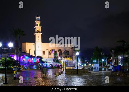 TEL-AVIV, ISRAEL - DECEMBER 20, 2014: Kedumim square in the old city of Jaffa, Now part of Tel-Aviv Yafo, Israel - Stock Photo