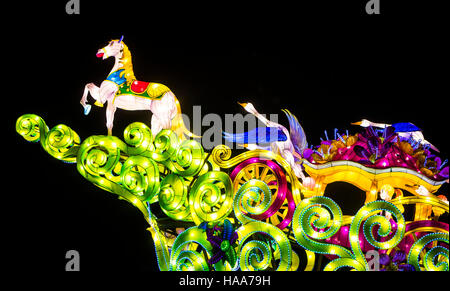 The Magical Lantern Festival Yorkshire at Roundhay Park In Leeds. - Stock Photo