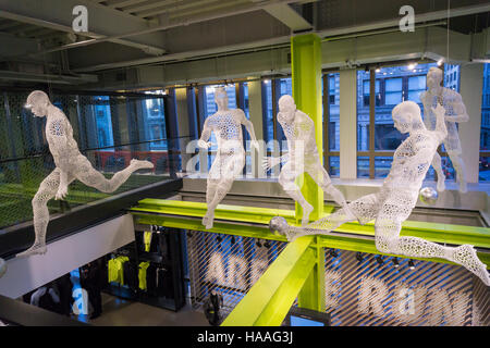 3-D printed display in the new Nike flagship store on opening day in Soho in New York on Friday, November 18, 2016. - Stock Photo