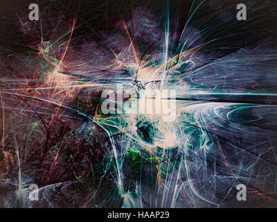 Abstract colourful background -  digitally generated image - Stock Photo