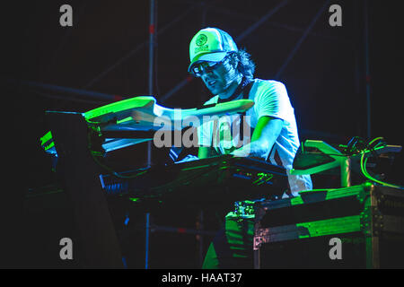 Torino, Italy. 29th June, 2012. Maurizio Lobina of Eiffel65 performing live at Gruvillage Festival 2012 © Alessandro - Stock Photo