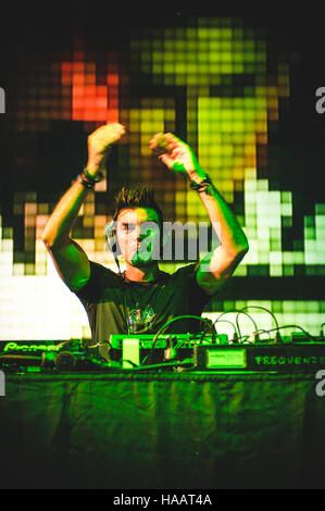 Torino, Italy. 29th June, 2012. Gabry Ponte of Eiffel65 performing live at Gruvillage Festival 2012 © Alessandro - Stock Photo