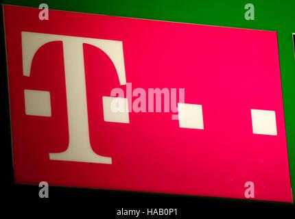 das Logo der Marke 'Deutsche Telekom', Berlin. - Stock Photo