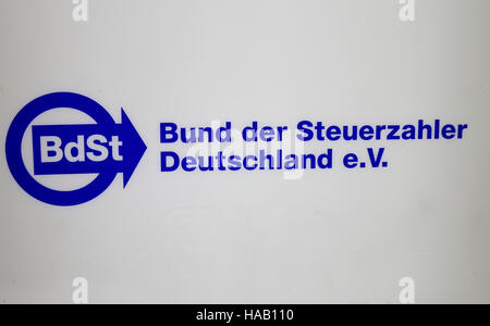das Logo der Marke 'Bdst Bund der Steuerzahler Deutschlands', Berlin. - Stock Photo
